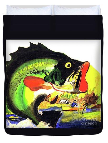 Gone Fishing Duvet Cover by Linda Simon