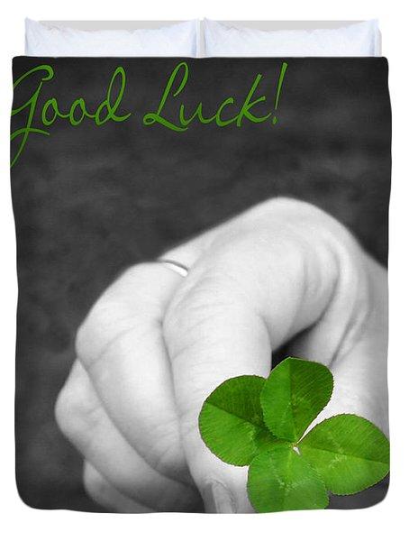 Good Luck Duvet Cover by Kristin Elmquist