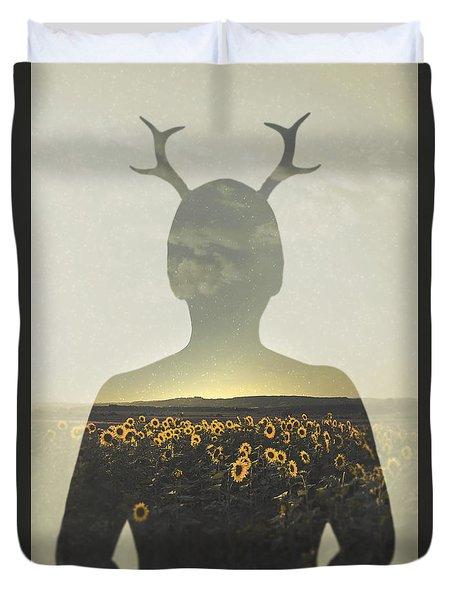 Goodbye Summer Duvet Cover by Art of Invi