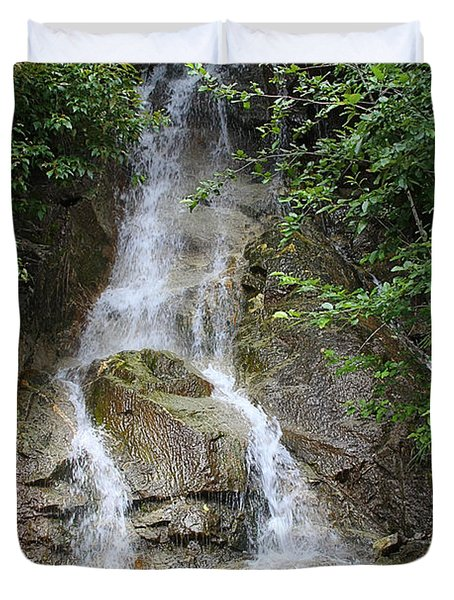 Gorge Creek Falls - North Cascades National Park WA Duvet Cover by Christine Till