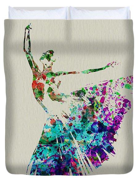 Gorgeous Ballerina Duvet Cover by Naxart Studio