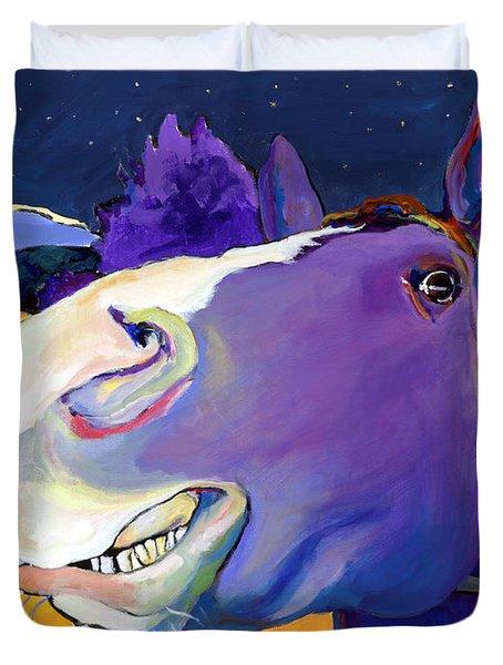 Got Oats      Duvet Cover by Pat Saunders-White