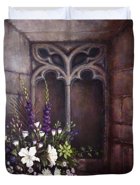 Gothic Wedding Bouquet Duvet Cover by Sean Conlon