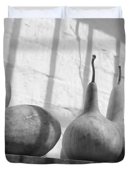 Gourds on a Shelf Duvet Cover by Lauri Novak