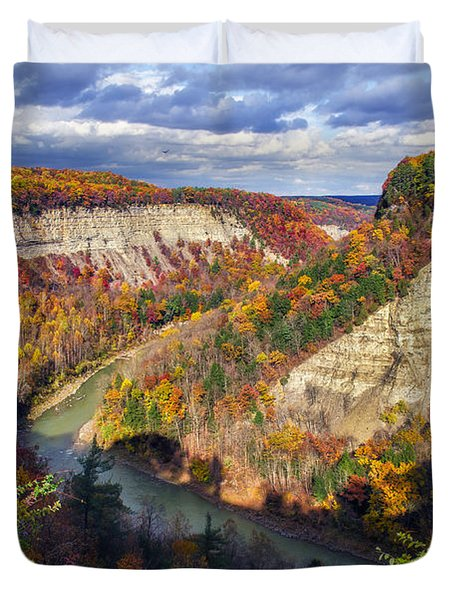 Grand Canyon Of The East Duvet Cover by Mark Papke