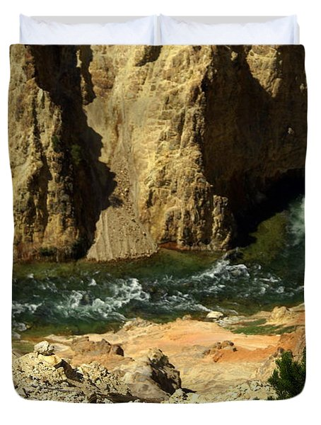 Grand Canyon Of The Yellowstone 3 Duvet Cover by Marty Koch
