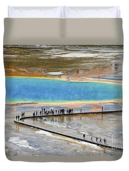 Grand Prismatic Spring Duvet Cover by Teresa Zieba