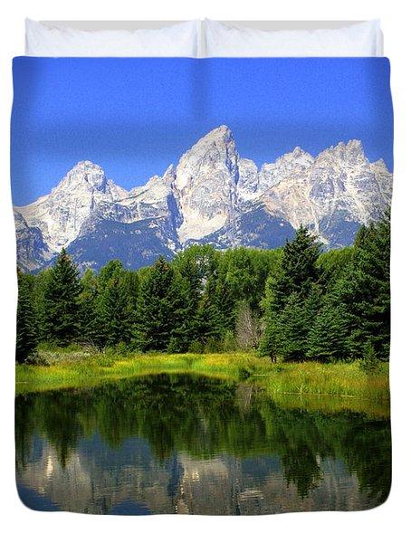 Grand Tetons 2 Horizontal Duvet Cover by Marty Koch