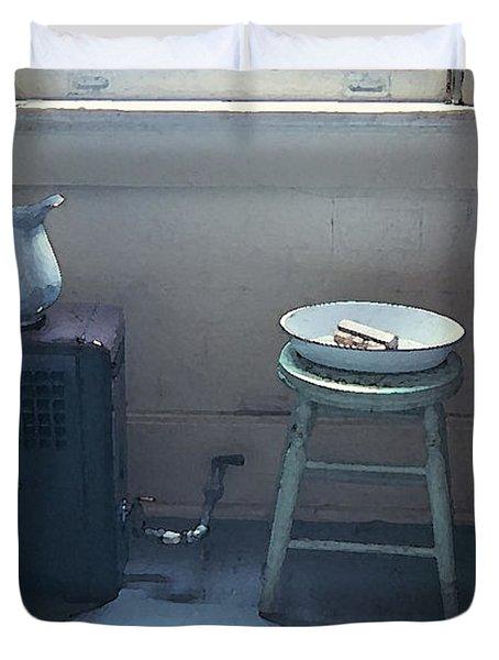 Grandma's Bathroom Duvet Cover by KG Thienemann