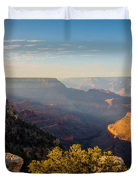 Grandview Sunset - Grand Canyon National Park - Arizona Duvet Cover by Brian Harig
