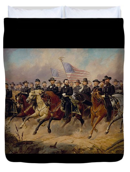 Grant And His Generals Duvet Cover by War Is Hell Store
