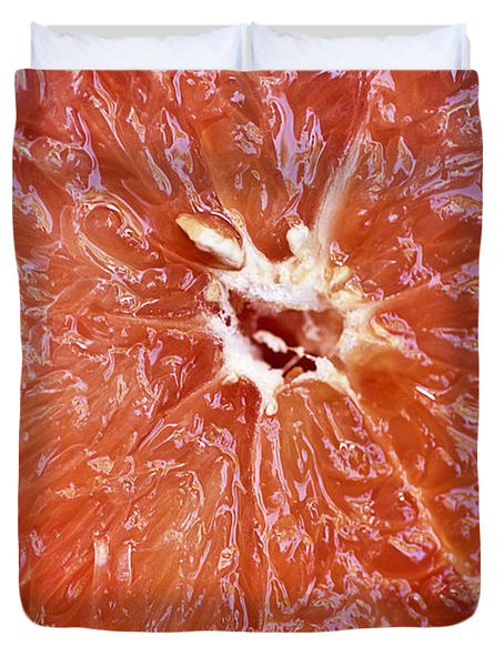 Grapefruit Half Duvet Cover by Ray Laskowitz - Printscapes