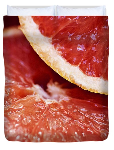 Grapefruit Halves Duvet Cover by Ray Laskowitz - Printscapes