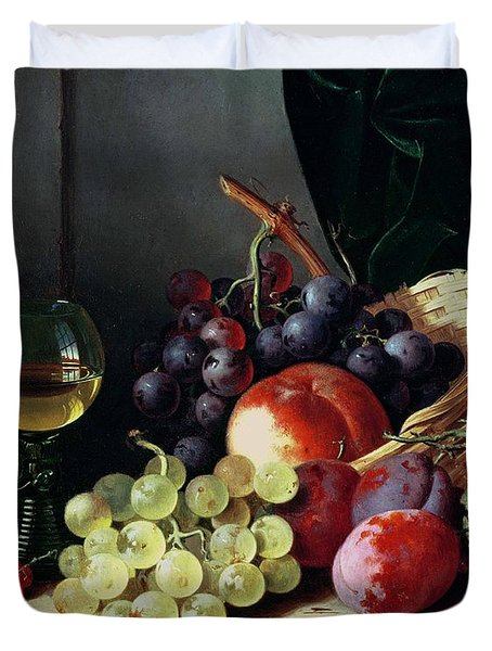 Grapes And Plums Duvet Cover by Edward Ladell