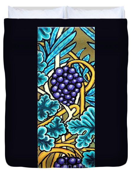 Grapes Duvet Cover by Genevieve Esson