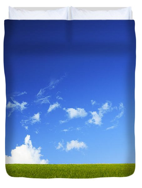 Grass Cloud Sky Duvet Cover by Brandon Tabiolo - Printscapes