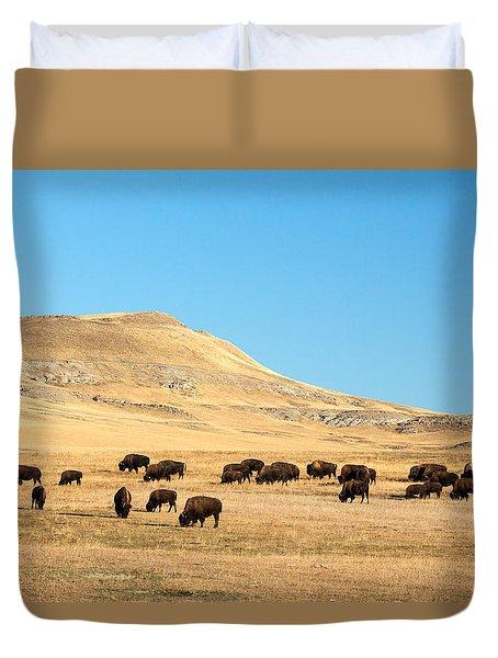 Great Plains Buffalo Duvet Cover by Todd Klassy