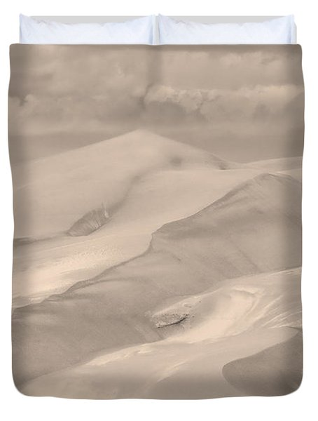 Great Sand Dunes  - In Sepia Duvet Cover by James BO  Insogna
