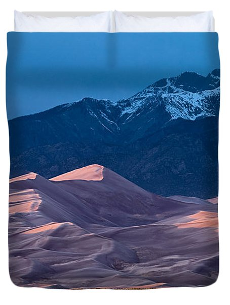 Great Sand Dunes  Colorado Duvet Cover by Steve Gadomski