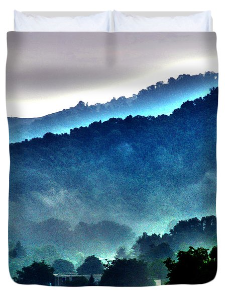 Great Smokey Mountains Duvet Cover by Susanne Van Hulst
