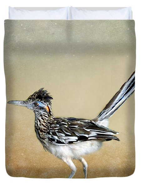 Greater Roadrunner 2 Duvet Cover by Betty LaRue