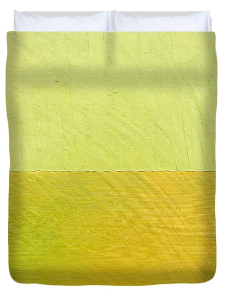 Green and Greenish Duvet Cover by Michelle Calkins