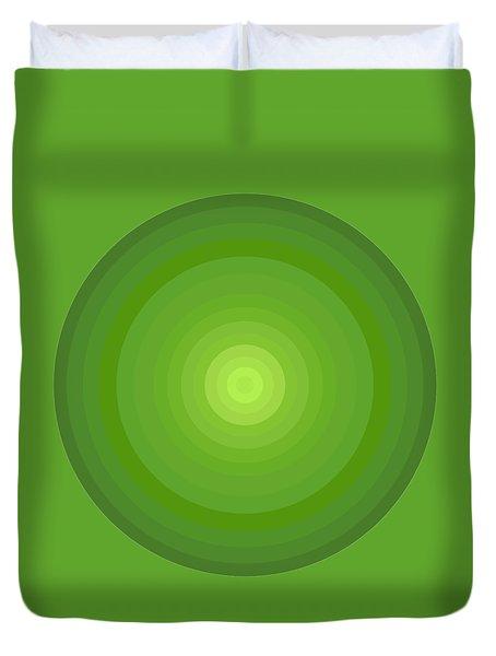 Green Circles Duvet Cover by Frank Tschakert