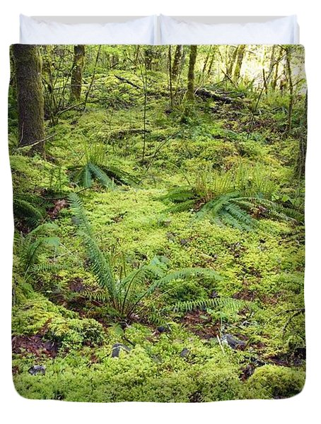 Green Foliage On The Forest Floor Duvet Cover by Craig Tuttle