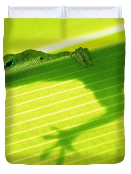 Green Lizard Duvet Cover by Bill Brennan - Printscapes