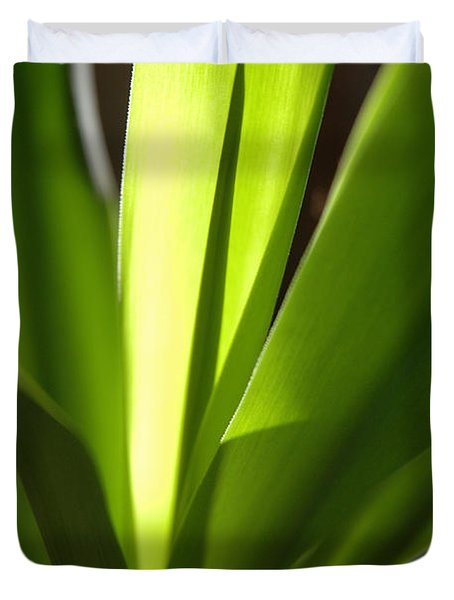 Green Patterns Duvet Cover by Jerry McElroy