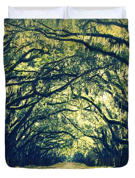 Green World Duvet Cover by Carol Groenen