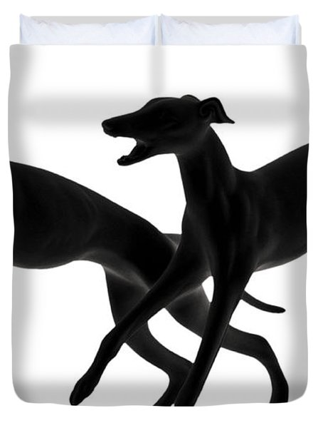 Greyhounds travelling at 45 MPH Duvet Cover by Christine Till