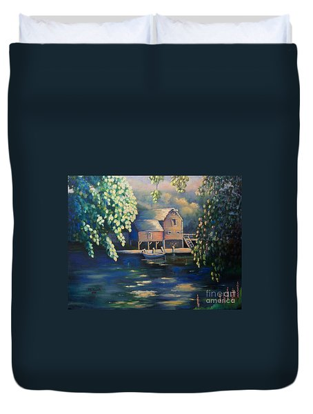 Grist Mill 2 Duvet Cover by Marlene Book