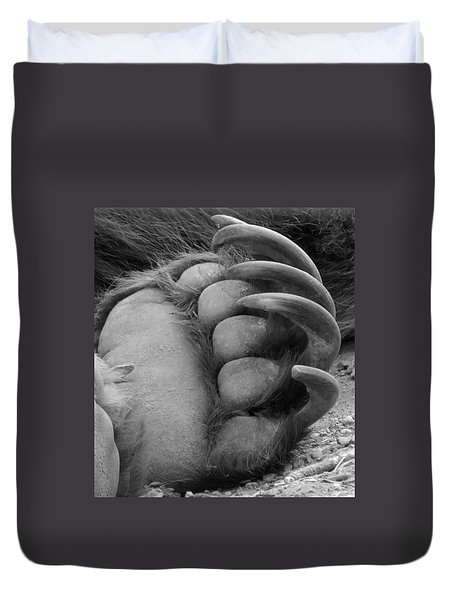 Grizzly Claws Duvet Cover by Tiffany Vest