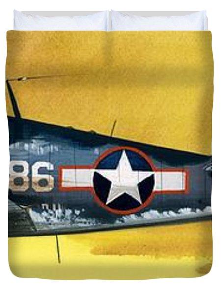 Grumman F6f-3 Hellcat Duvet Cover by Wilf Hardy