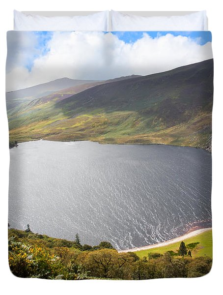 Guinness Lake In Wicklow Mountains  Ireland Duvet Cover by Semmick Photo