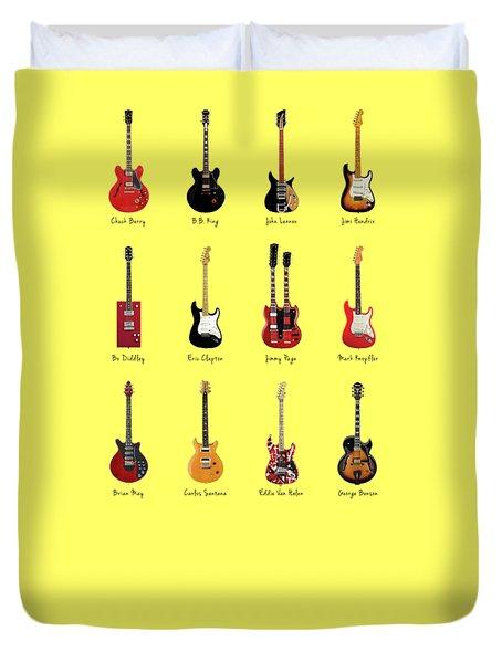 Guitar Icons No1 Duvet Cover by Mark Rogan