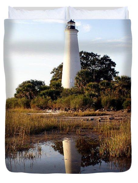 Gulf Coast Lighthouse Duvet Cover by Marty Koch