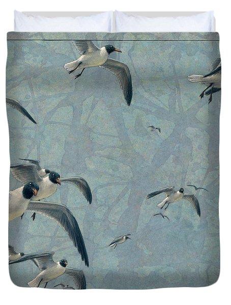 Gulls Duvet Cover by James W Johnson