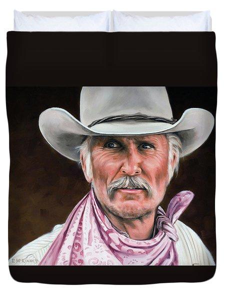 Gus Mccrae Texas Ranger Duvet Cover by Rick McKinney
