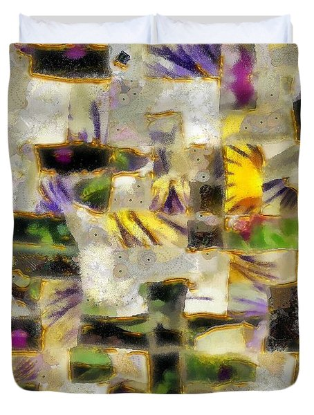 Gustav's Quilt Duvet Cover by RC DeWinter