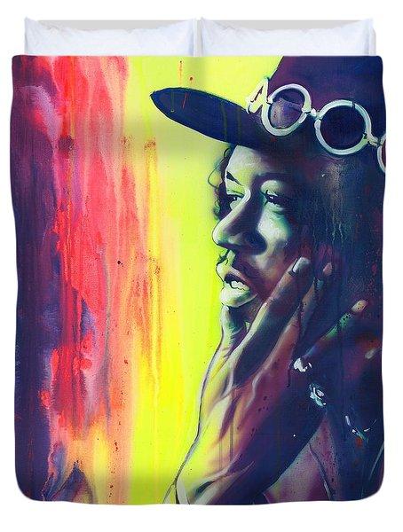 'gyspy Sun And Rainbows' Duvet Cover by Christian Chapman Art