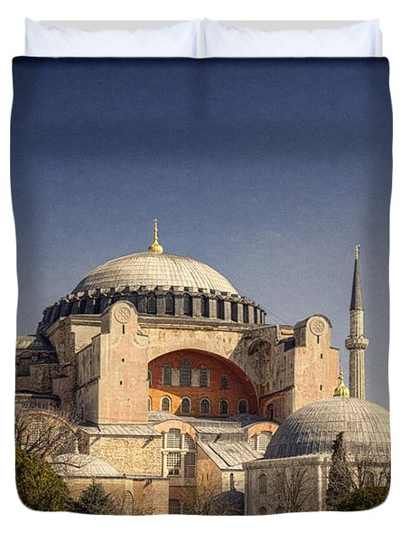 Hagia Sophia Duvet Cover by Joan Carroll