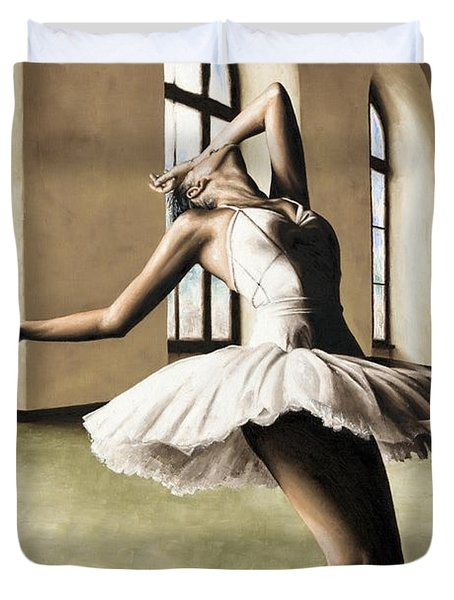 Halcyon Ballerina Duvet Cover by Richard Young