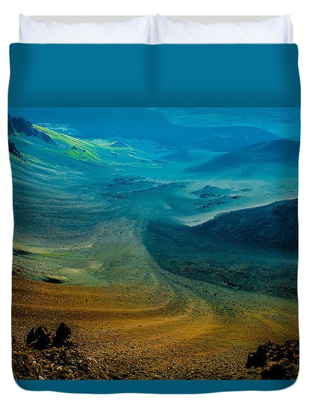 Duvet Cover featuring the photograph Haleakala by M G Whittingham