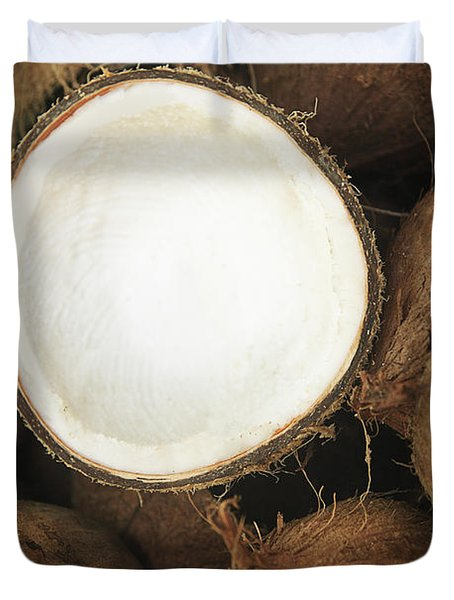 Half Coconut Duvet Cover by Brandon Tabiolo - Printscapes