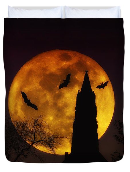 Halloween Moon Duvet Cover by Bill Cannon