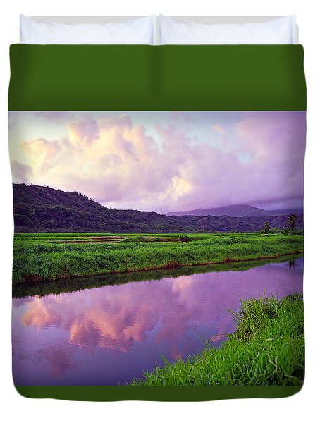 Hanalei Dawn Duvet Cover by Kevin Smith