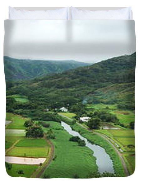 Hanalei Taro Fields Duvet Cover by Michael Peychich