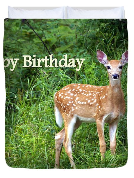Happy Birthday 1 Duvet Cover by Marty Koch